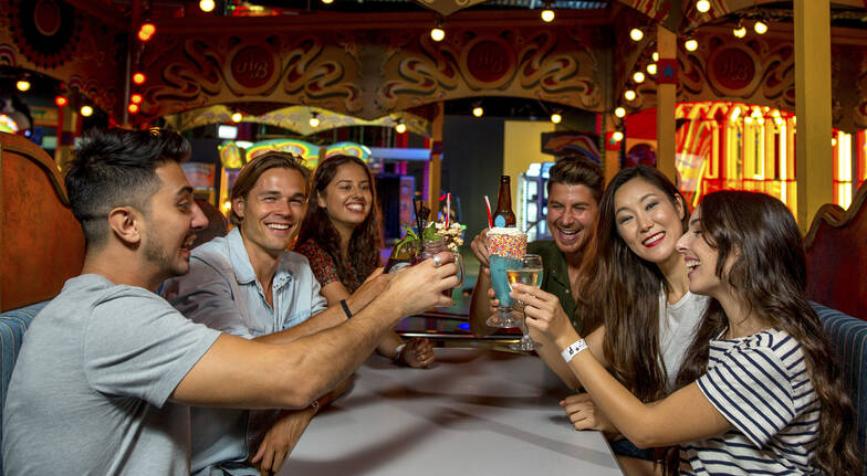 Unlimited Arcade Games with Burgers and Cocktails - For 2