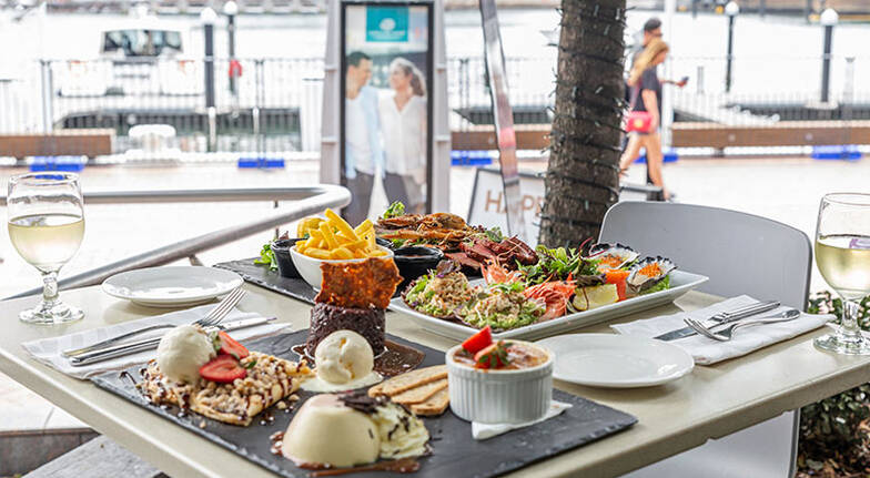 Mediterranean Waterfront Dining Experience with Wine  For 2