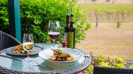 2 Course Vineyard Lunch with Sparkling - For 2