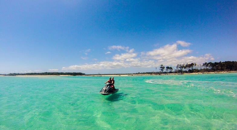 Fraser Island and Moon Point Jet Ski Tour