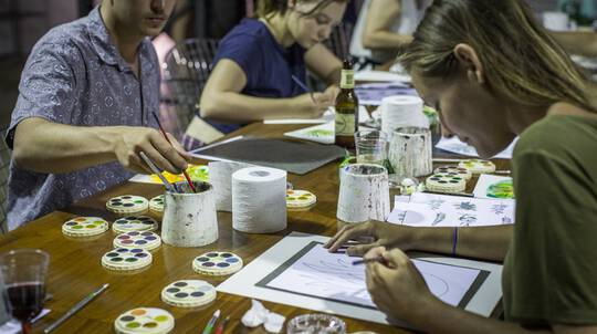 Watercolour Painting and Wine Class - Burleigh Heads