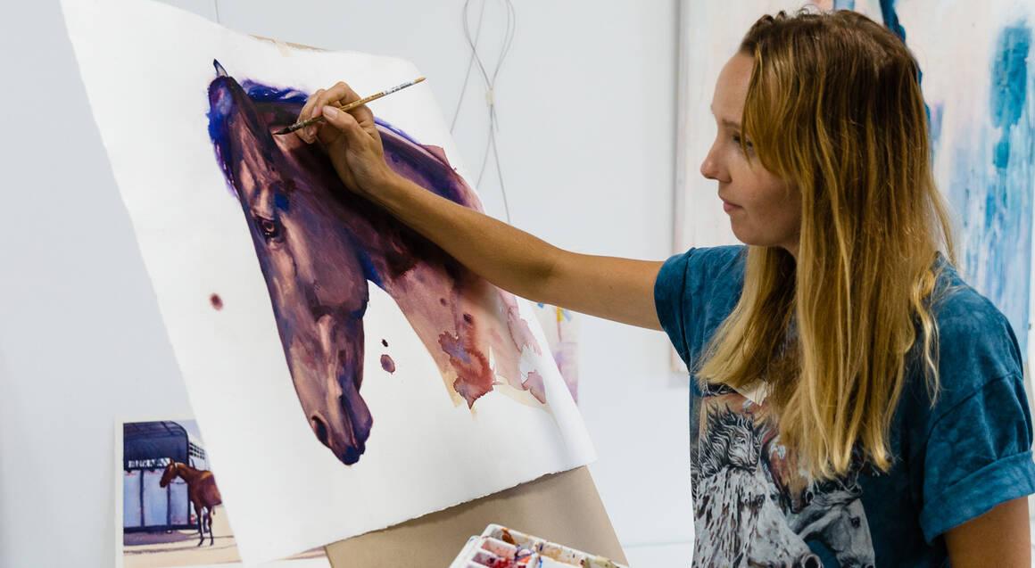 Watercolour Painting and Wine Class - Mermaid Beach