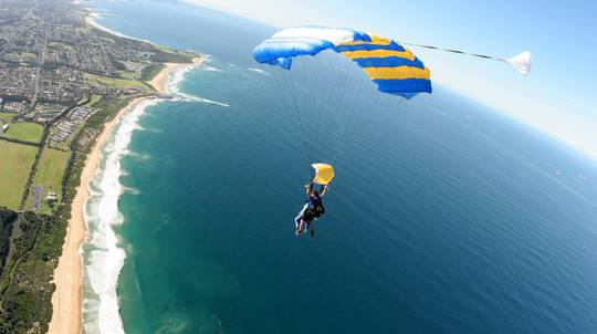 Skydive Over The Beach - Up To 15,000ft- Weekend- Wollongong