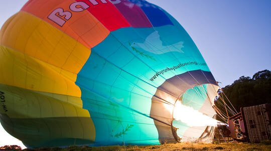 Hot Air Ballooning Over Byron Bay with Sparkling Breakfast