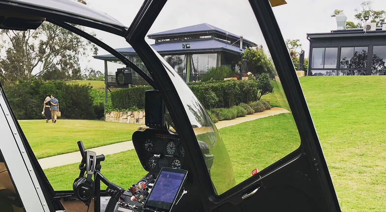 Private Helicopter Flight to Ocean View Estate with Picnic