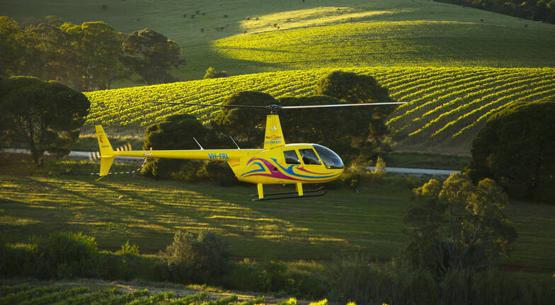 20 Minute Scenic Helicopter Flight over Barossa- For up to 3