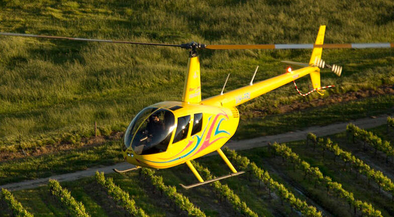 15 Minute Scenic Helicopter Flight over the Barossa Valley