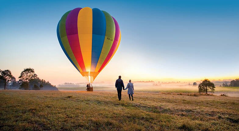 Hot Air Ballooning Over The Hunter Valley  For 2