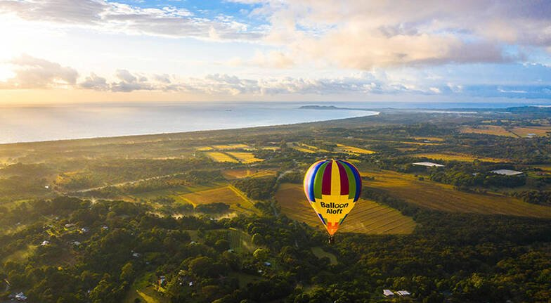Hot Air Ballooning Over Byron Bay with Gourmet Breakfast