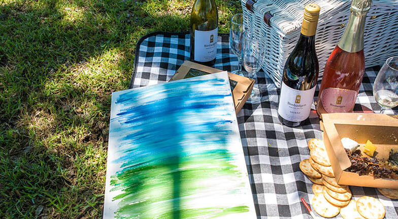 Premium Wine Tasting Picnic Hamper and Painting Kit  For 2
