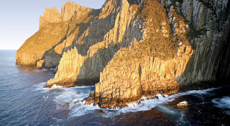 rocky cliffs of tasman island