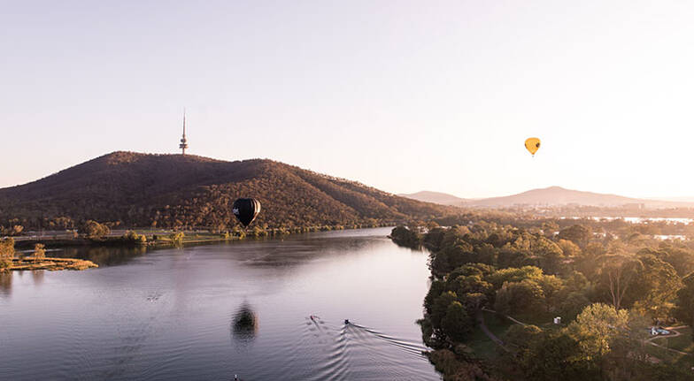 Hot Air Ballooning Over Canberra  Weekend