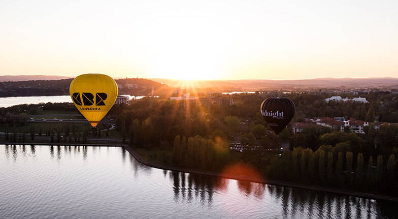 Hot Air Ballooning Over Canberra  Midweek  For 2