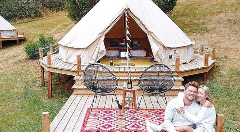 Overnight Glamping Stay with Hot Springs Entry