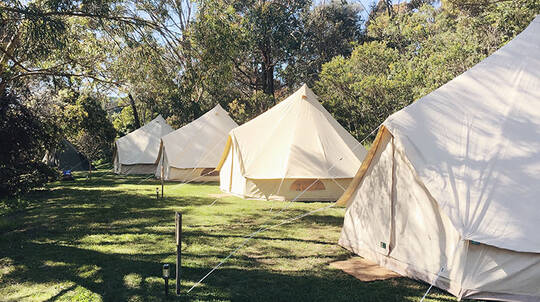 Overnight Rent A Bell Tent Stay on the Mornington Peninsula