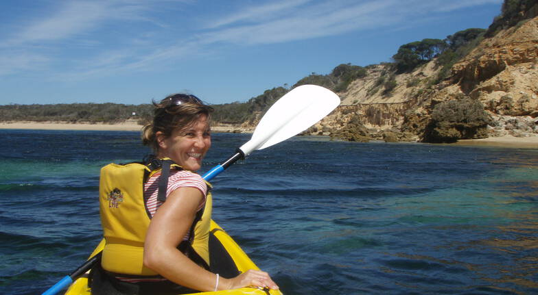 Sea Kayak Coastline Tour of Dolphin Sanctuary