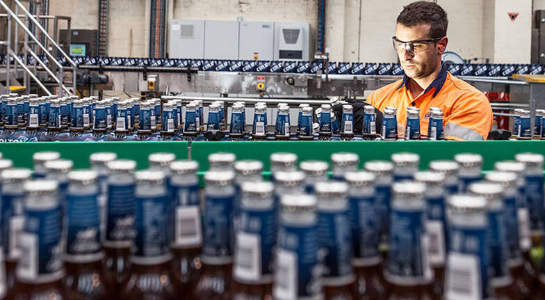 carlton brewhouse bottling plant