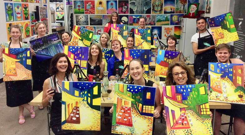3 Hour Paint and Sip Workshop - Weekend - For 2