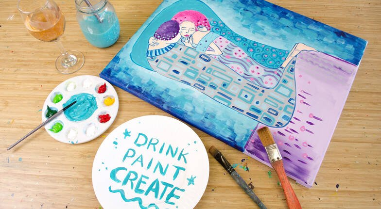 2 Hour Paint and Sip Class - Midweek - Darlinghurst