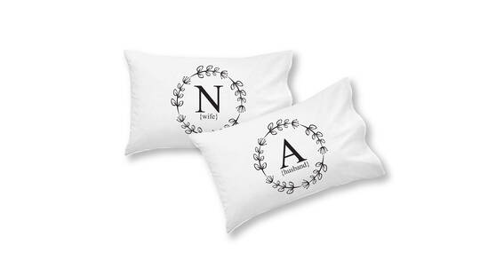 Pillowcase Set Personalised with Initials