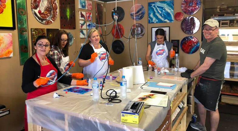 3 Hour Resin Art Workshop  For 6