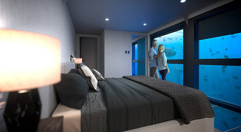 1 Night Great Barrier Reef Underwater Stay with Meals For 2