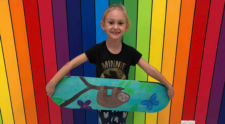 Kids Skateboard Deck Painting Class  2 Hours