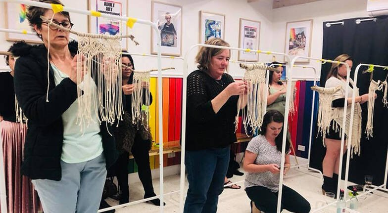 Create and Sip Macrame Wall Hanging Workshop - 3 Hours