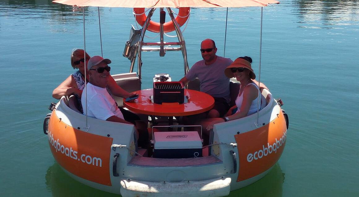 6-Seater BBQ Boat Hire - 2 Hours