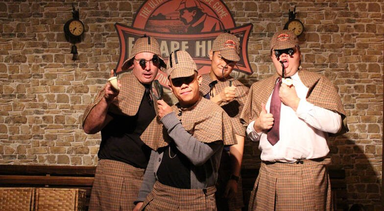 The Escape Hunt Experience perth men in costumes