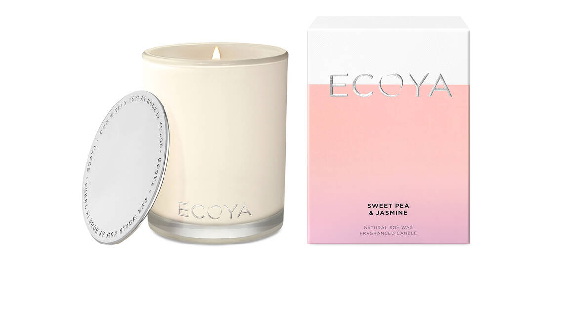 Ecoya Madison Natural Soy Wax Candle - Sweet Pea & Jasmine