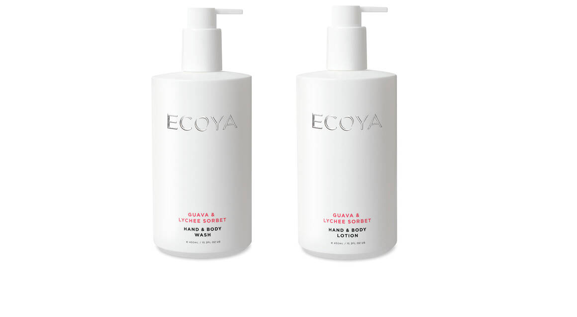 Ecoya Body Wash and Body Lotion Duo - Guava & Lychee Sorbet