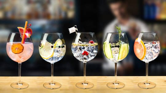 90 Minute Gin Masterclass with Matched Canapes - For 2