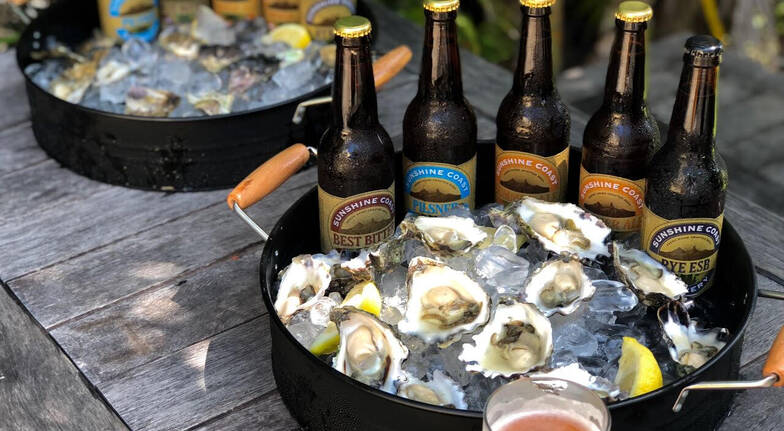 Mobile roving Oyster shucker with craft beer