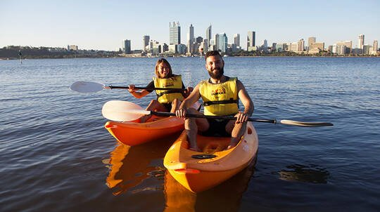 1 Hour Kayak Hire on the Swan River - For 2