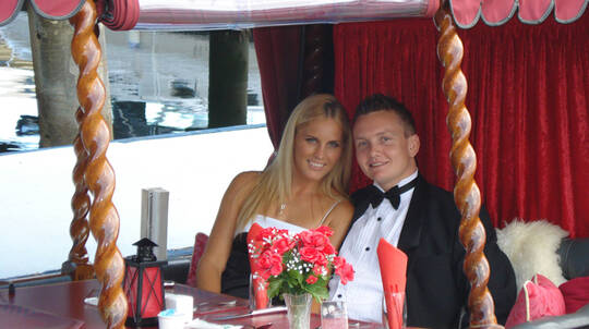 Romantic Gondola Dinner Cruise - Roses and Moet - For 2
