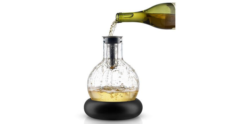 White Wine Decanter with Detachable Wine Cooler