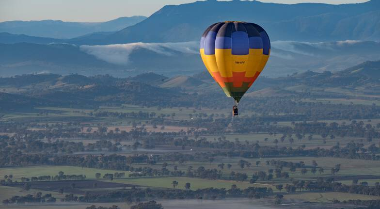 Sunrise Hot Air Balloon Flight with Prosecco Breakfast