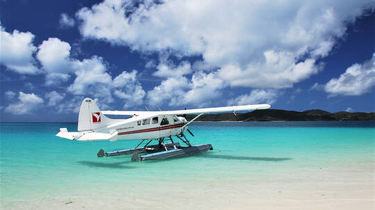 Whitehaven Beach Club with Seaplane Flight and Lunch