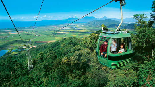 Experience Kuranda by Train and Skyrail Rainforest Cableway