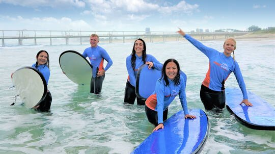 Group Surfing Lesson with Transfers - 2 Hours