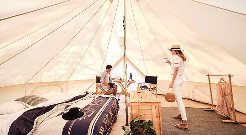 Shoalhaven River Glamping with Canoe Hire  2 Nights  For 2