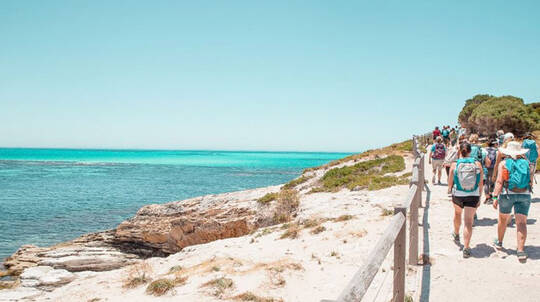 Rottnest Island Lakes and Bays Guided Hike - 3.5 Hours