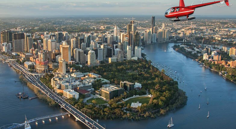 Scenic Helicopter Flight Over Brisbane