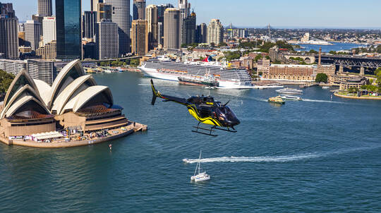 Private Helicopter Flight and 3 Course Lunch - For 2