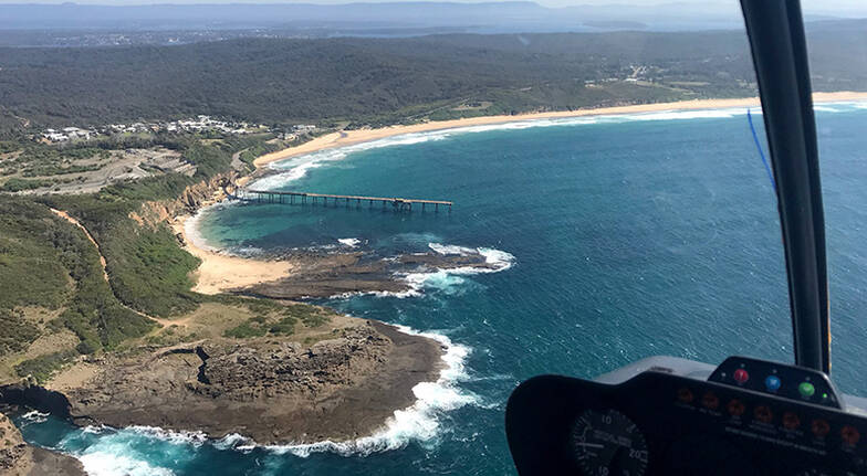 Helicopter Flight over Newcastle and Catherine Hill Bay