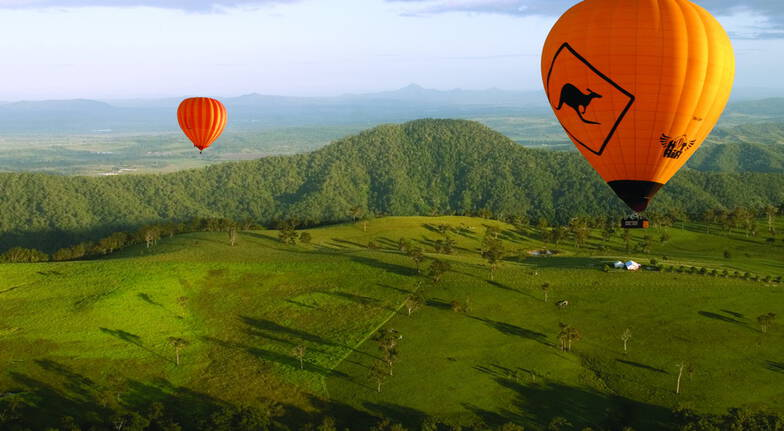 Hot Air Ballooning Over Gold Coast Hinterland with Breakfast