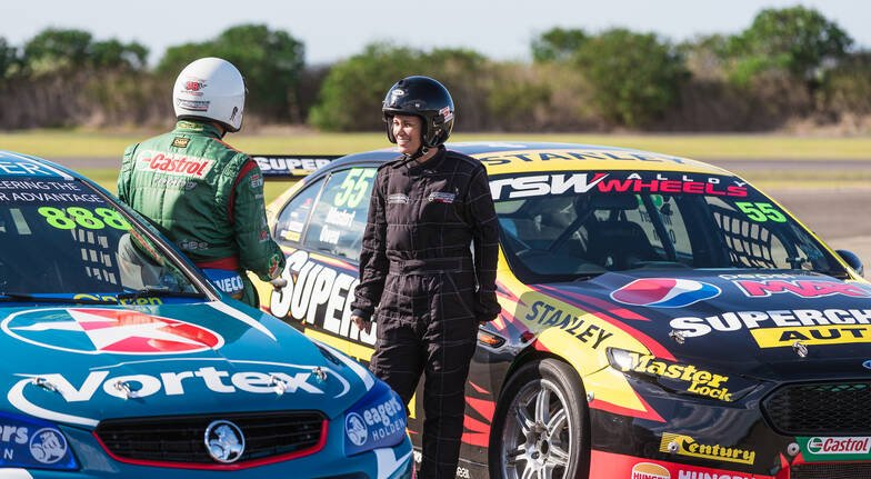 The Driving Centre v8 race car woman doing experience
