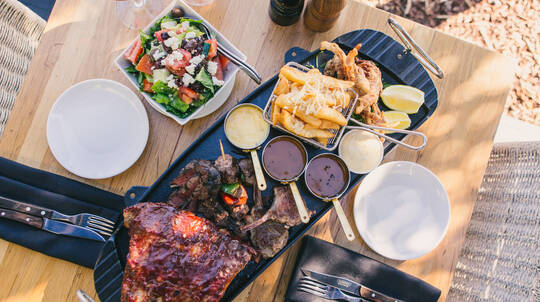 Indulgent Steakhouse Platter and Wine by the Harbour - For 2