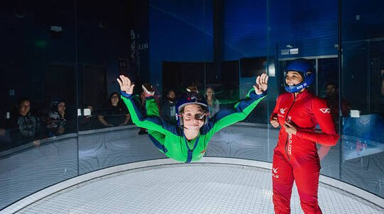 Friends and Family Indoor Skydiving - 10 Flights - Weekend